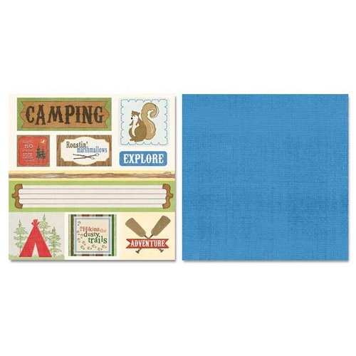 Carolee's Creations - Adornit - Camping Friends Collection - 12 x 12 Double Sided Paper - Camping Cut Apart
