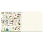 Carolee's Creations - Adornit - Camping Friends Collection - 12 x 12 Double Sided Paper - Camping Word Play