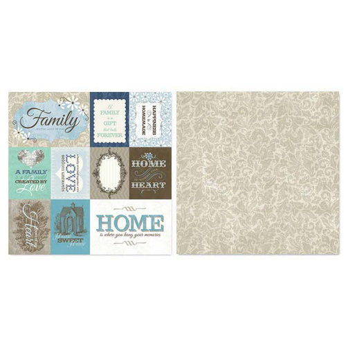 Carolee's Creations - Adornit - Capri Taupe Collection - 12 x 12 Double Sided Paper - Cut Apart