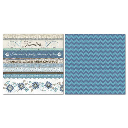 Carolee's Creations - Adornit - Capri Taupe Collection - 12 x 12 Double Sided Paper - Ticker Tape