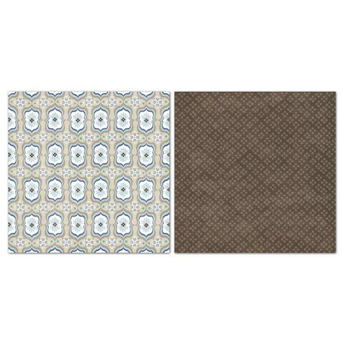 Carolee's Creations - Adornit - Capri Taupe Collection - 12 x 12 Double Sided Paper - Trellis