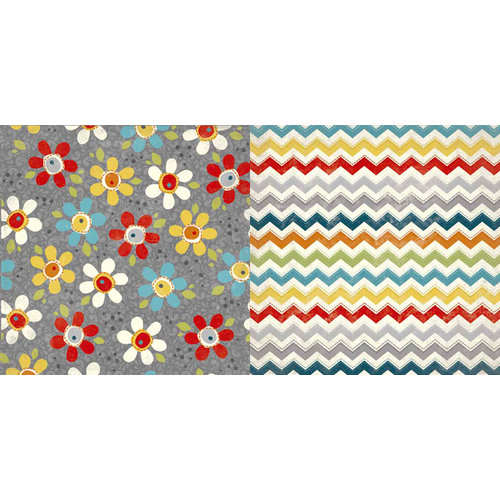 Carolee's Creations - Adornit - Wild Flower Collection - 12 x 12 Double Sided Paper - Pop Daisy