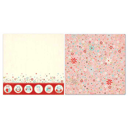 Carolee's Creations - Adornit - Nested Owls Coral Collection - 12 x 12 Double Sided Paper - Nested Owl