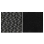 Carolee's Creations - Adornit - Blender Basics Collection -12 x 12 Double Sided Paper - Black Pixie Dots