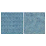 Carolee's Creations - Adornit - Blender Basics Collection -12 x 12 Double Sided Paper - Blue Chevron