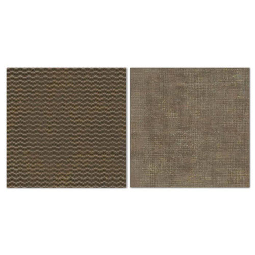 Carolee's Creations - Adornit - Blender Basics Collection -12 x 12 Double Sided Paper - Brown Chevron