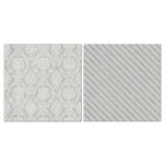 Carolee's Creations - Adornit - Blender Basics Collection -12 x 12 Double Sided Paper - Gray Damask