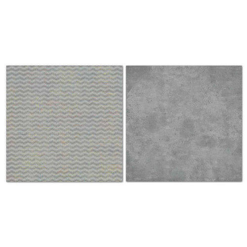 Carolee's Creations - Adornit - Blender Basics Collection -12 x 12 Double Sided Paper - Gray Chevron