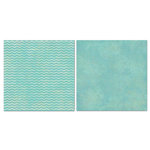 Carolee's Creations - Adornit - Blender Basics Collection -12 x 12 Double Sided Paper - Mint Chevron