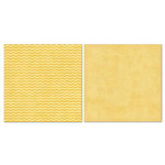 Carolee's Creations - Adornit - Blender Basics Collection -12 x 12 Double Sided Paper - Mustard Chevron