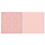 Carolee's Creations - Adornit - Blender Basics Collection -12 x 12 Double Sided Paper - Pink Damask
