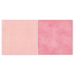 Carolee's Creations - Adornit - Blender Basics Collection -12 x 12 Double Sided Paper - Pink Chevron