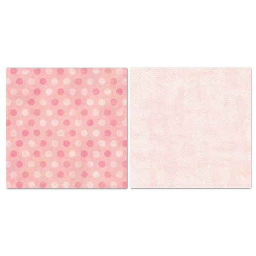 Carolee's Creations - Adornit - Blender Basics Collection -12 x 12 Double Sided Paper - Pink Pixie Dots