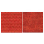 Carolee's Creations - Adornit - Blender Basics Collection -12 x 12 Double Sided Paper - Red Chevron