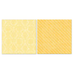 Carolee's Creations - Adornit - Blender Basics Collection -12 x 12 Double Sided Paper - Yellow Damask