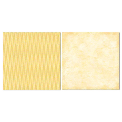 Carolee's Creations - Adornit - Blender Basics Collection -12 x 12 Double Sided Paper - Yellow Chevron