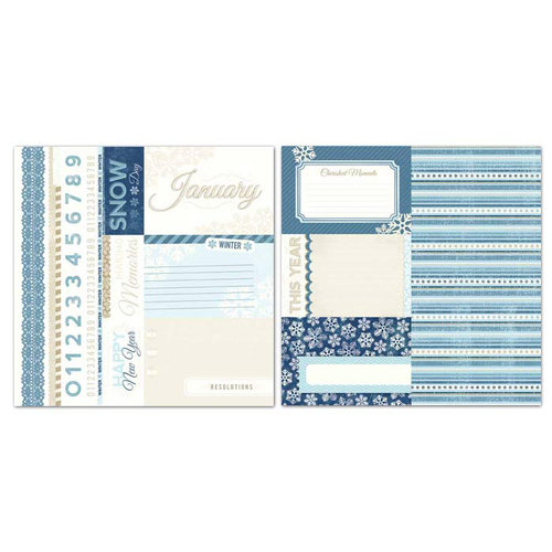 Carolee's Creations - Adornit - Seasons Collection - 12 x 12 Double Sided Paper - January Cut Apart