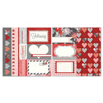 Carolee's Creations - Adornit - Seasons Collection - 12 x 12 Double Sided Paper - February Cut Apart