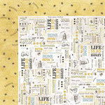 Carolee's Creations - Adornit - Bumble Collection - 12 x 12 Double Sided Paper - Wordplay