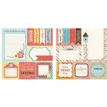 Carolee's Creations - Adornit - Home Tweet Home Collection - 12 x 12 Double Sided Paper - Tweet Cut Apart