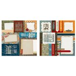 Carolee's Creations - Adornit - Rough and Tough Collection - 12 x 12 Double Sided Paper - Buddy Cut Apart