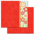 Carolee's Creations - Adornit - Crazy for Daisy Collection - 12 x 12 Double Sided Paper - Crazy Tall Daisies