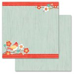Carolee's Creations - Adornit - Crazy for Daisy Collection - 12 x 12 Double Sided Paper - Crazy Daisy Bird
