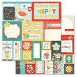 Carolee's Creations - Adornit - Crazy for Daisy Collection - 12 x 12 Double Sided Paper - Crazy Cut Apart