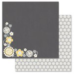 Carolee's Creations - Adornit - Family Patchwork Collection - 12 x 12 Double Sided Paper - Family Daisy Cluster