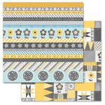 Carolee's Creations - Adornit - Family Patchwork Collection - 12 x 12 Double Sided Paper - Family Tickertape