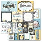 Carolee's Creations - Adornit - Family Patchwork Collection - 12 x 12 Double Sided Paper - Family Cut Apart