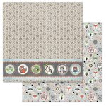 Carolee's Creations - Adornit - Timberland Critters Collection - 12 x 12 Double Sided Paper - Critters in a Row