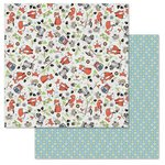 Carolee's Creations - Adornit - Timberland Critters Collection - 12 x 12 Double Sided Paper - Critters All Around