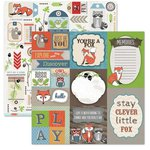 Carolee's Creations - Adornit - Timberland Critters Collection - 12 x 12 Double Sided Paper - Critter Cut Apart