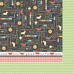 Carolee's Creations - Adornit - Summertime Memories Collection - 12 x 12 Double Sided Paper - Watermelon Wordplay