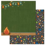Carolee's Creations - Adornit - Happy Trails Collection - 12 x 12 Double Sided Paper - Camping Scene