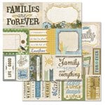 Carolee's Creations - Adornit - Wisteria Collection - 12 x 12 Double Sided Paper - Wisteria Cut Apart