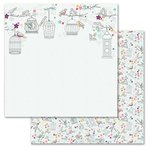 Carolee's Creations - Adornit - Rhapsody Bop Collection - 12 x 12 Double Sided Paper - Morning Song