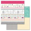 Carolee's Creations - Adornit - Rhapsody Bop Collection - 12 x 12 Double Sided Paper - Rhapsody Tickertape
