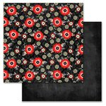 Carolee's Creations - Adornit - You and Me Collection - 12 x 12 Double Sided Paper - You and Me Blossom