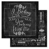 Carolee's Creations - Adornit - You and Me Collection - 12 x 12 Double Sided Paper - Belong Together