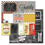 Carolee's Creations - Adornit - You and Me Collection - 12 x 12 Double Sided Paper - Together Cut Apart