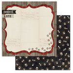 Carolee's Creations - Adornit - Hound Dog Collection - 12 x 12 Double Sided Paper - Doggie Life
