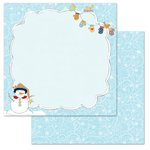 Carolee's Creations - Adornit - Snow Days Collection - 12 x 12 Double Sided Paper - Snow Flurry