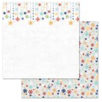 Carolee's Creations - Adornit - Snow Days Collection - 12 x 12 Double Sided Paper - Snowflakes