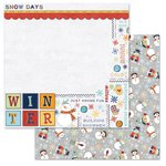 Carolee's Creations - Adornit - Snow Days Collection - 12 x 12 Double Sided Paper - Snowman Word