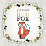 Carolee's Creations - Adornit - Art Play Prints - 12 x 12 Paper - Little Fox