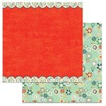 Carolee's Creations - Adornit - Nested Owl Mint Collection - 12 x 12 Double Sided Paper - Daisy Scallop