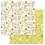 Carolee's Creations - Adornit - Nested Owl Mint Collection - 12 x 12 Double Sided Paper - Owl Wordplay