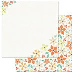 Carolee's Creations - Adornit - Kaleidoscope Collection - 12 x 12 Double Sided Paper - Pinwheel Blooms